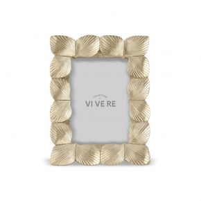 PHOTO FRAME DECO SHELL GOLD 4X6INCH
