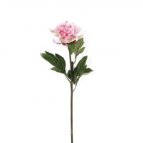 FLOWER PEONY SPRAY PINK 50CM