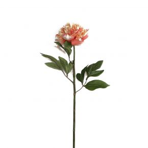FLOWER PEONY SPRAY ORANGE 50CM