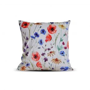 CUSHION COVER FLOWERY CHEERFUL MIXCOL 45X45 CM