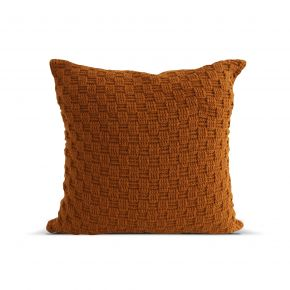 CUSHION COVER KNIT WOVEN INCHI ORANGE 45X45 CM