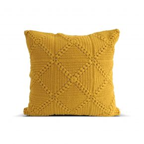 CUSHION COVER KNIT ETRAGON INCHI YELLOW 45X45 CM