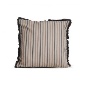 CUSHION COVER LINES CREME GRAY 45X45 CM