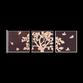 WALL DECO PROSPER TREE BIRDY BROWN 210X70CM