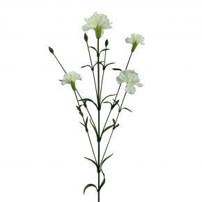 FLOWER CARNATION SPRAY WHITE 72CM