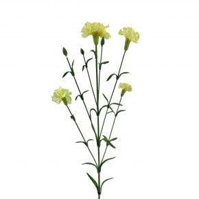 FLOWER CARNATION SPRAY YELLOW 72CM