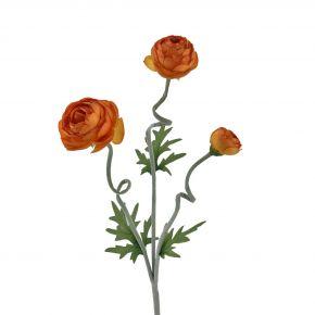 FLOWER NEW CABBAGE ROSE SPRAY ORA 60CM