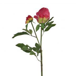FLOWER NEW PEONY SPRAY FUCHSIA 80CM