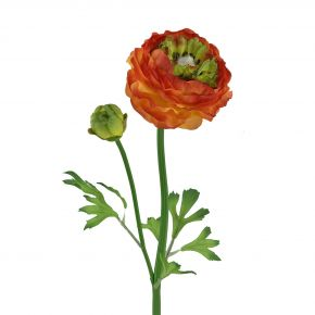 FLOWER RANUNCULUS N SPRAY YEL/RED 50CM