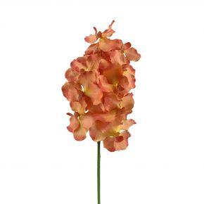 FLOWER VANDA ORCHID ORANGE 73CM