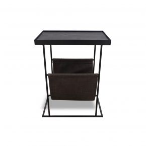 GIA SIDE TABLE WITH MAGAZINE RACK