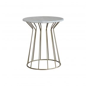 LUNA SIDE TABLE MARBLE GOLD