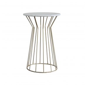 LUNA TALL SIDE TABLE MARBLE GOLD