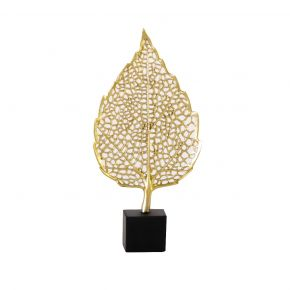 OBJECT DECO GOLDEN LEAF A 16X4X33 CM