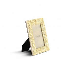 PHOTO FRAME DECO HONEYCOMB GOLD 4X6 INCH