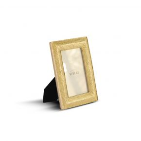 PHOTO FRAME DECO PATTERN GOLD 4X6 INCH