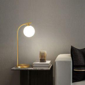 TABLE LAMP BULBY GOLD D15X46CM