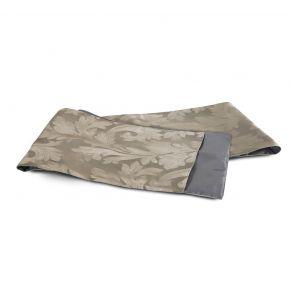 TABLE RUNNER LEAVES GRAY 35X220CM