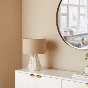 TABLE LAMP MANAKALA WHITE GOLD 17X23 CM