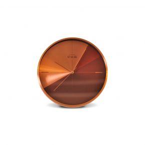 WALL CLOCK GAYE GOLD BROWN D30CM