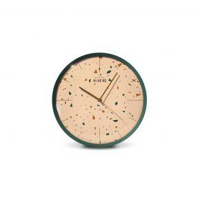 WALL CLOCK NURAY WHITE GREEN D33CM