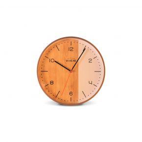 WALL CLOCK SEMA WHITE BROWN D30CM