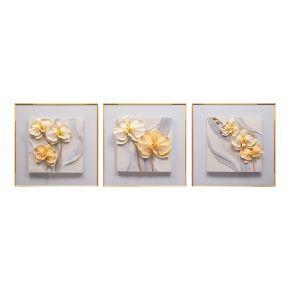 WALL DECO FLOWERY POD GRAY 60X180CM