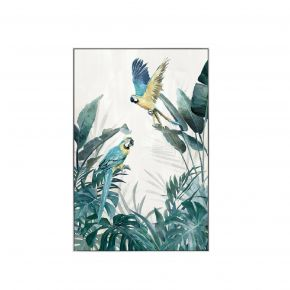 WALL DECO LOVELY PARROTS 80X120CM