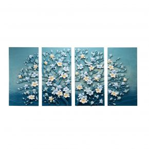 WALL DECO MAGNOLIA TREE BLUE GRAY 100X200CM
