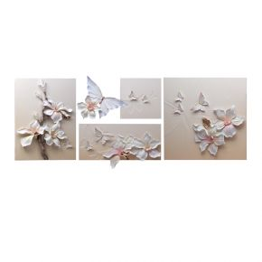 WALL DECO NEW FLOWER BUTTERFLY 80X180CM