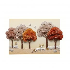 WALL DECO NEW FOREST CREAM 80X50CM